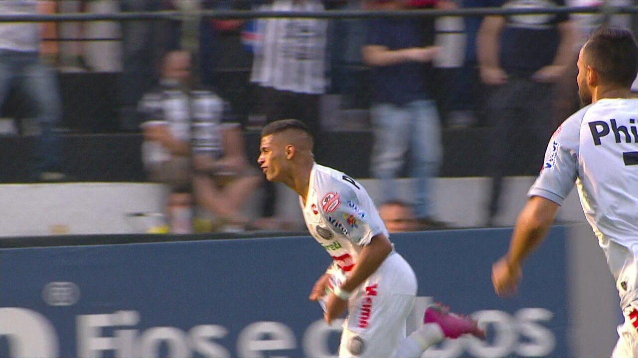 Gol do Operário! Maílton dribla o goleiro e faz um bonito gol para abrir o placar aos 22 do 1º tempo