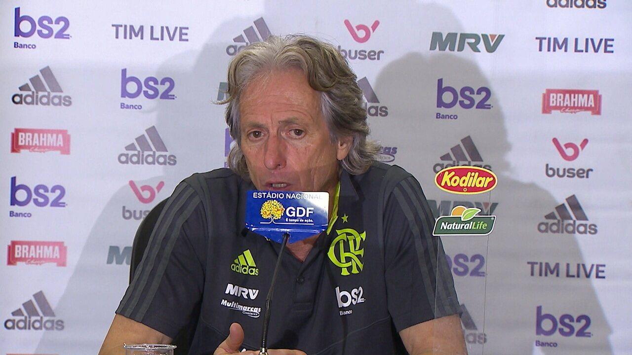 No pós jogo, Jorge Jesus comenta desempenho do Flamengo em partida contra Avaí