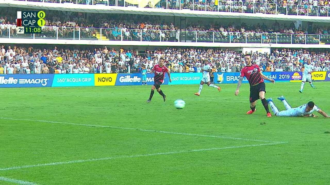 Melhores momentos: Santos 1 x 1 Athletico-PR pela 18ª rodada do Brasileirão 2019