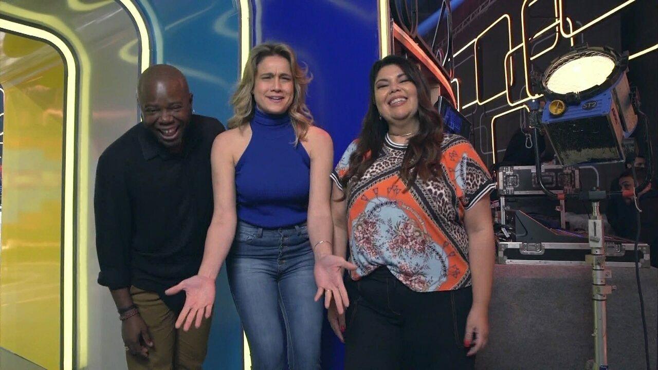 Érico Brás, Fernanda Gentil e Fabiana Karla contam spoilers sobre o 'Se Joga'