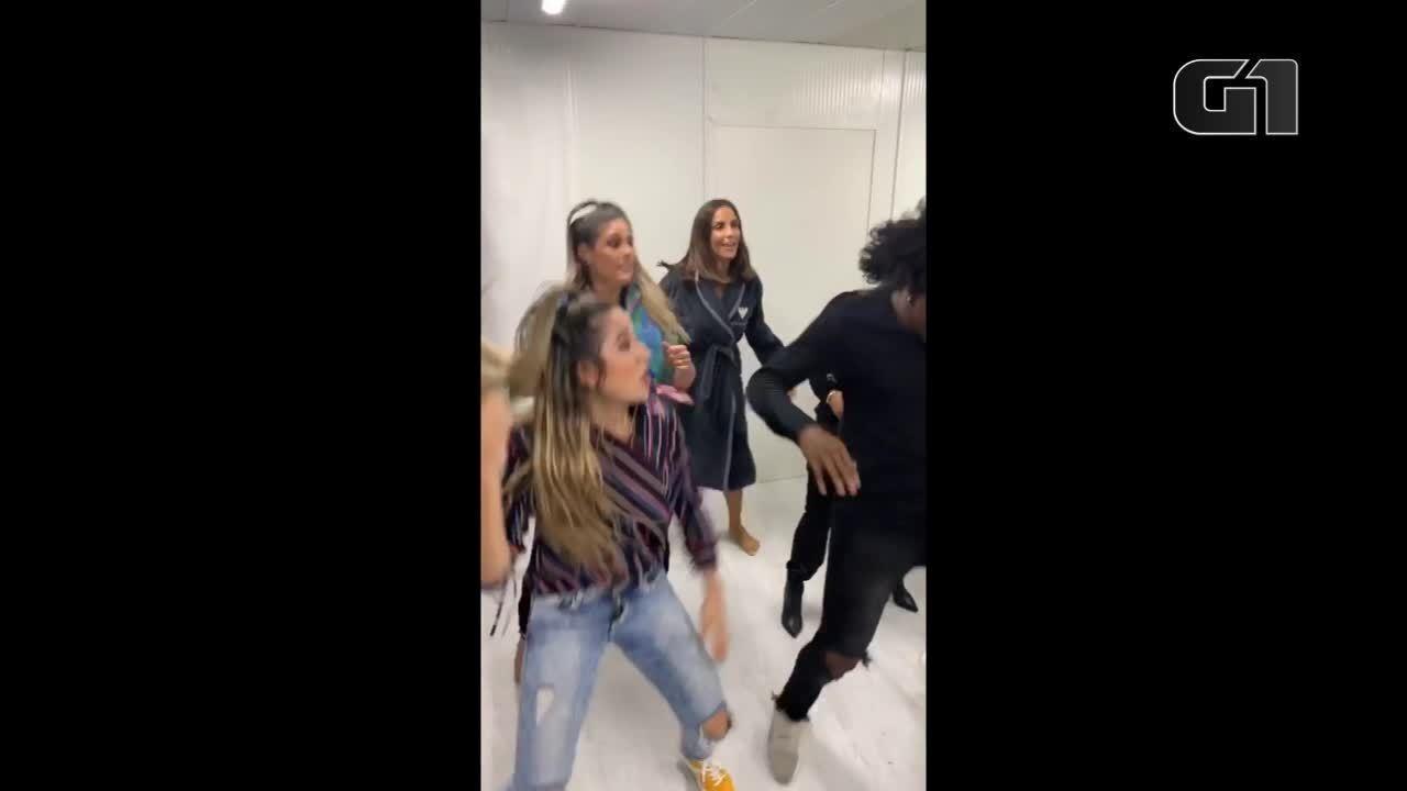 Ivete Sangalo dança em camarim antes de cantar na festa de 15 anos do Rock in Rio Lisboa