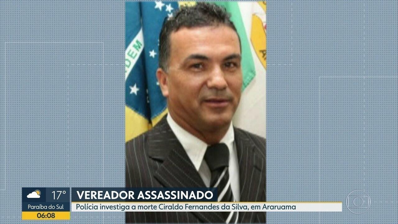 Vereador é assassinado em Araruama