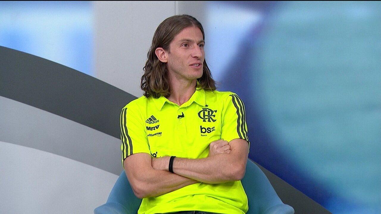 Filipe Luís comenta desempenho de Reinier e fala da relação do Flamengo com Jorge Jesus