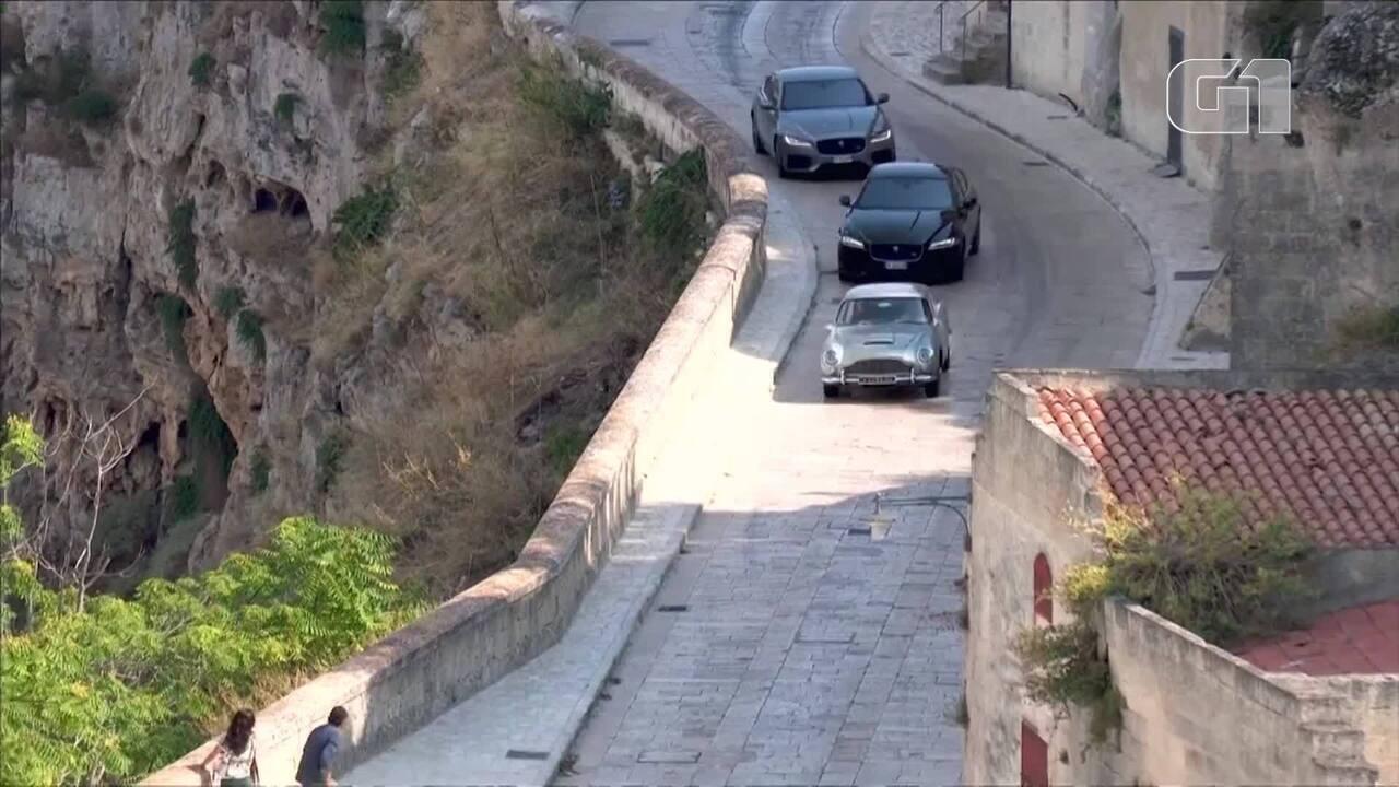 Cena de perseguição de carro do novo filme de James Bond é flagrada na Itália