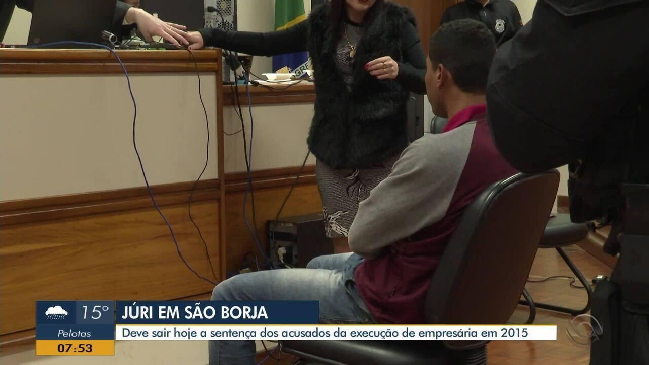 Segundo dia de julgamento do caso de execução de empresária acontece em São Borja