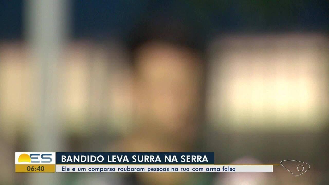 Suspeito de assalto é agredido na Serra, ES