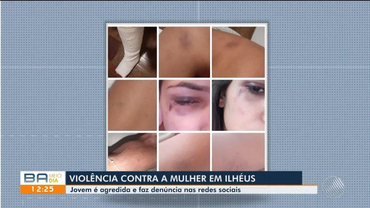 Jovem agredida por ex-namorado na frente do filho faz denúncia em redes sociais