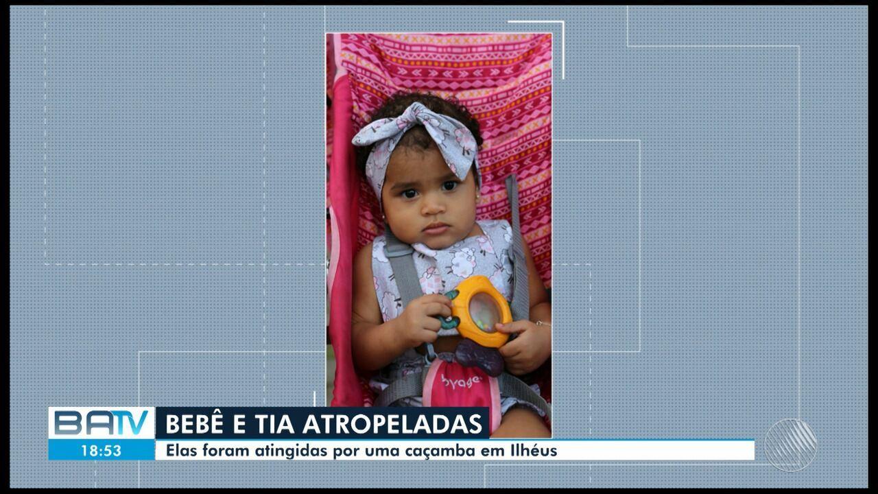 Atropelamento em ilhéus mata um bebê de nove meses e a tia-avó da criança