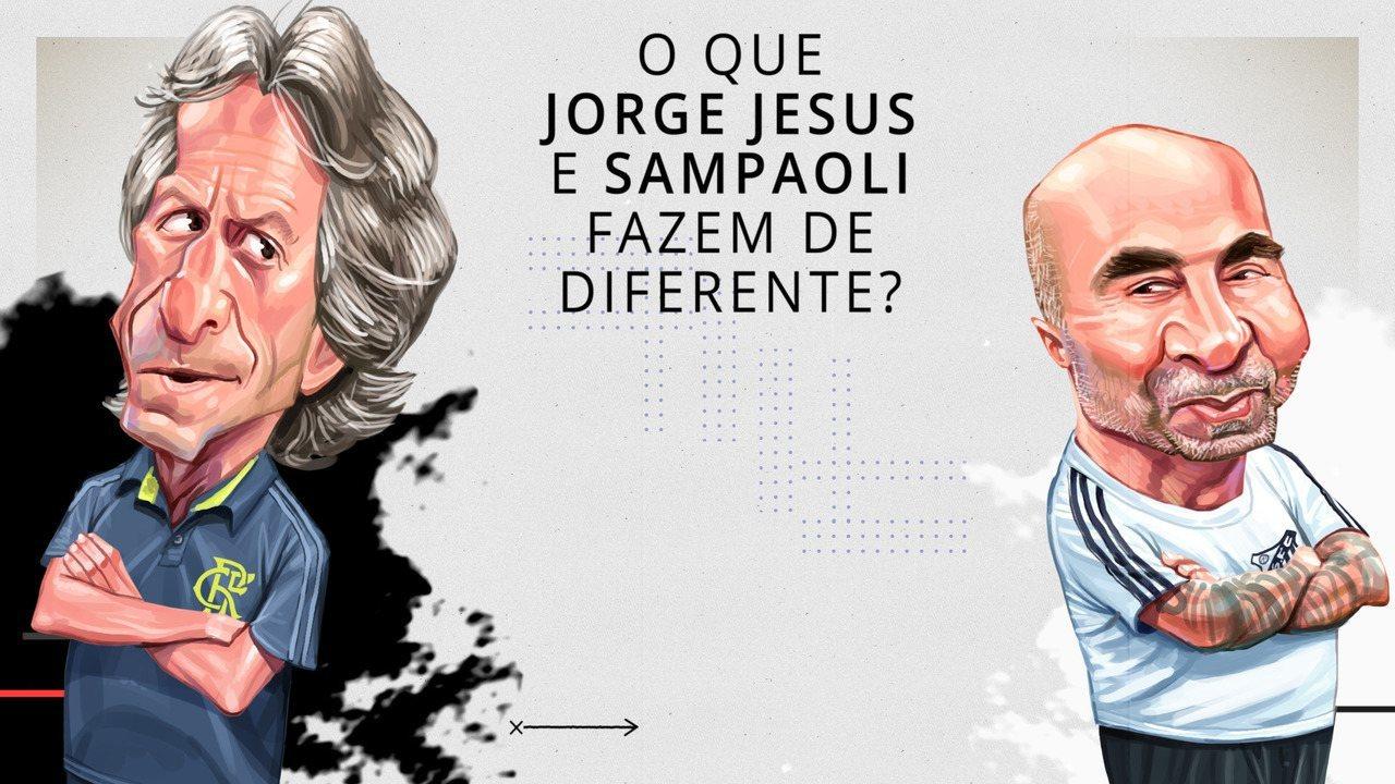 O que Jorge Jesus e Sampaoli fazem de diferente?