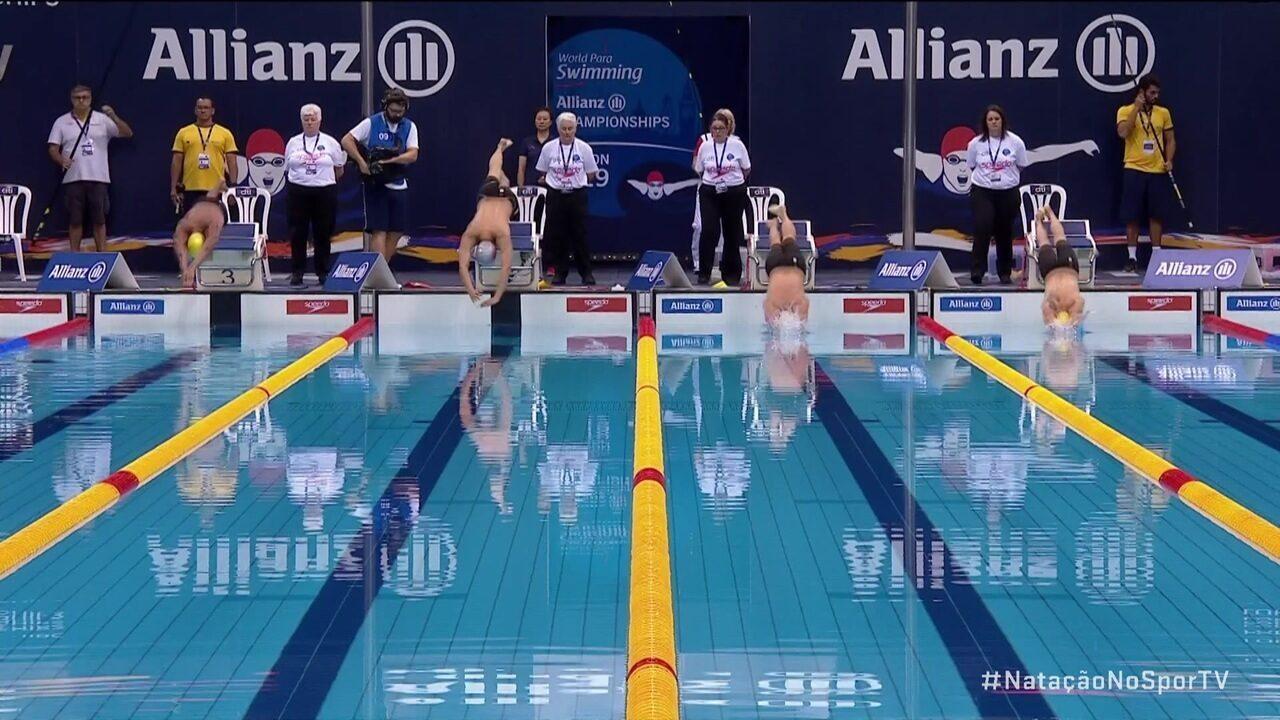 Wendell Belarmino Pereira nos 100m livres S11 no Mundial de Natação Paralímpica