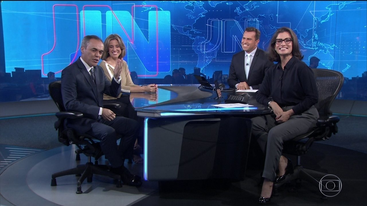 Luana Borba, do Amazonas, e Sandro Dalpícolo, do Paraná, apresentam o JN no sábado (14)