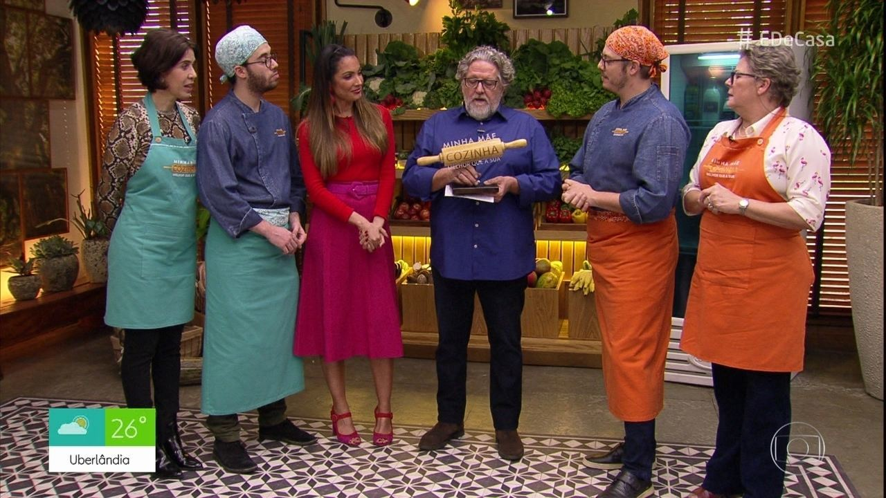 Roberto Ravioli avalia os pratos de Fábio Porchat e Bruno Jablonski