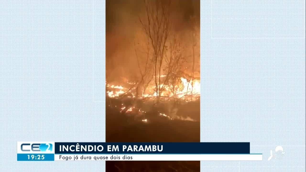Incêndio em Parambu já dura dois dias