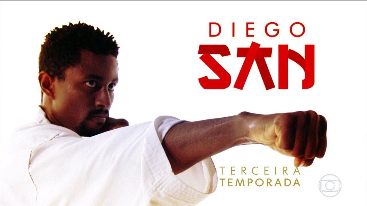 Após folga com dança e Encontro com Fátima, Diego San se prepara para novo desafio