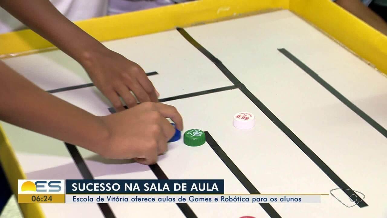Escola de Vitória oferece aulas de Games e Robótica para os alunos