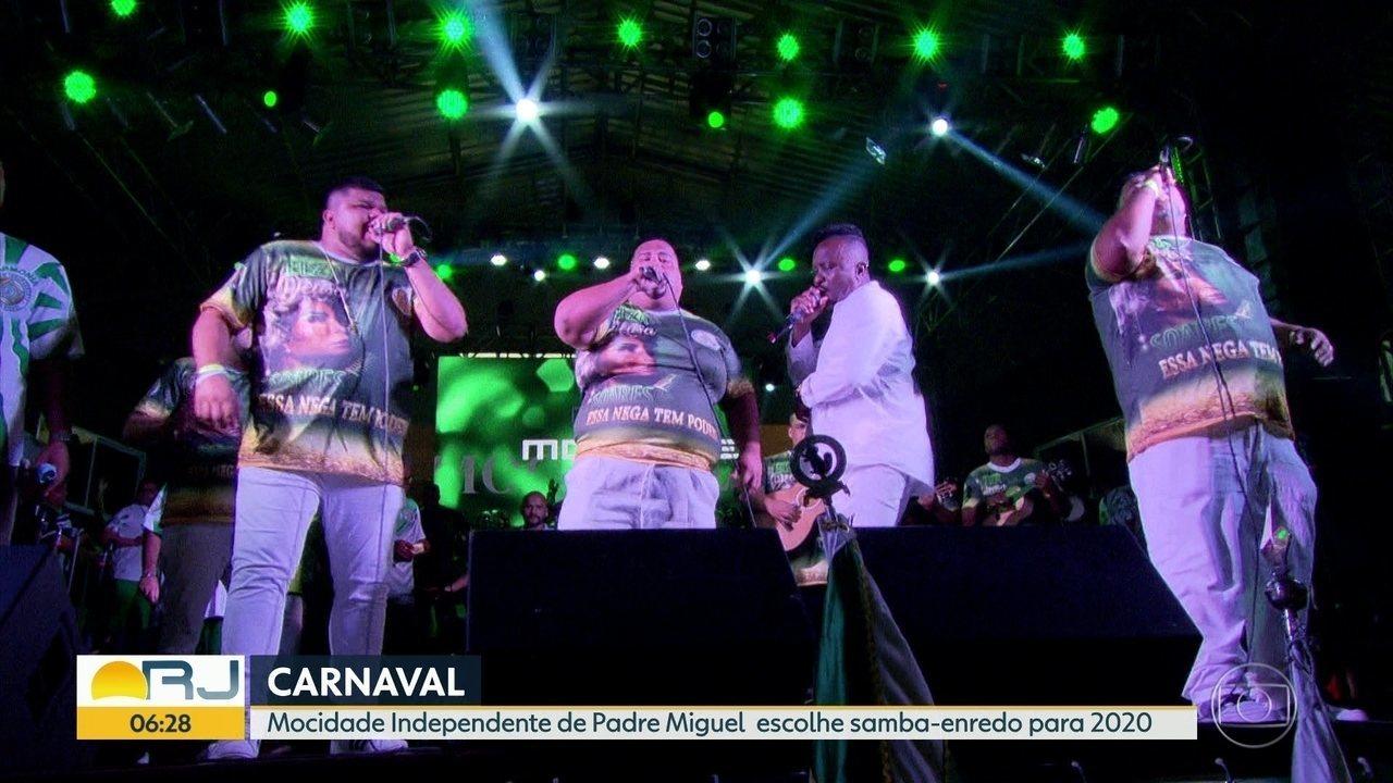 Mocidade escolhe o samba que vai levar para a Sapucaí em 2020