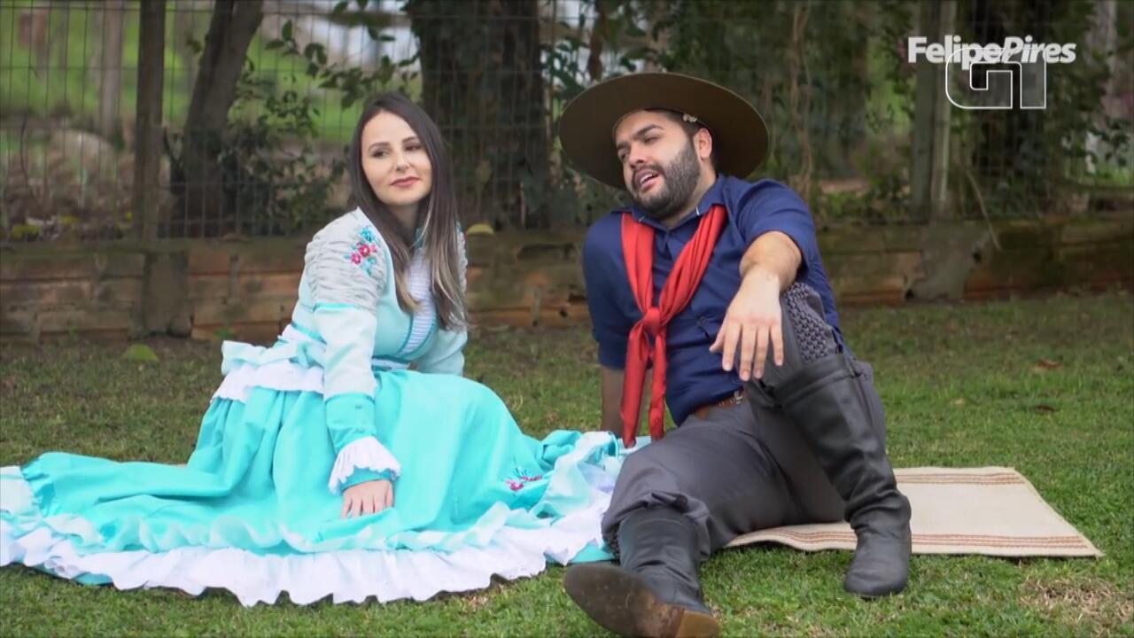 Confira a paródia de Felipe Pires com músicas de Teixeirinha