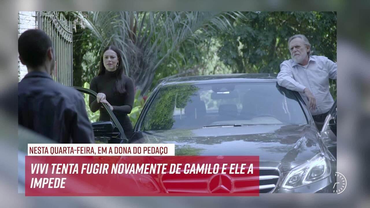 Resumo do dia - 18/09 – Vivi tenta fugir novamente de Camilo e ele a impede