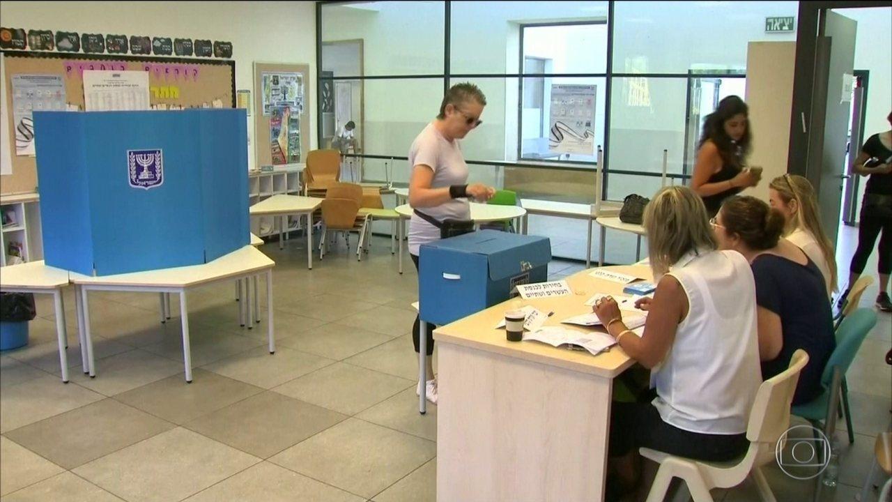 Segunda eleição em Israel em 5 meses mostra eleitorado dividido