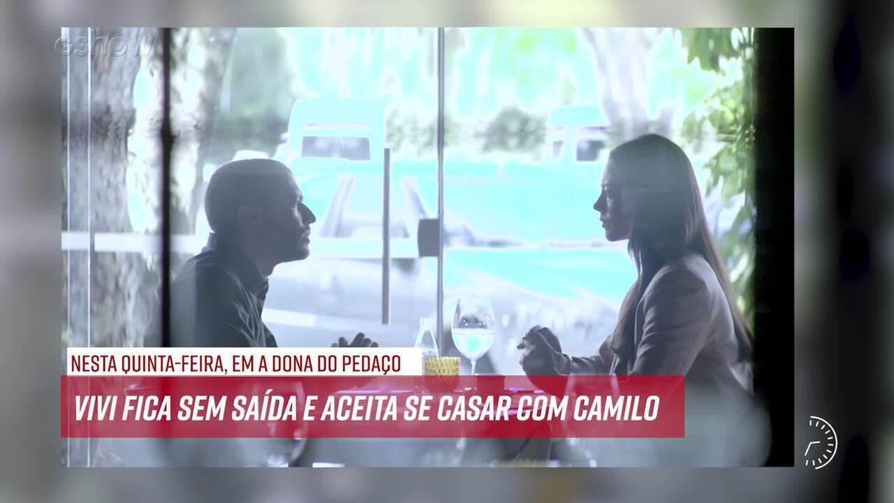 Resumo do dia - 19/09 – Vivi tenta fugir novamente de Camilo e ele a impede