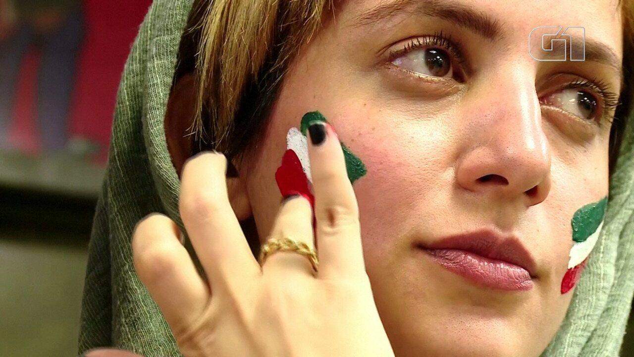 Mulheres iranianas torcem para poder frequentar estádios