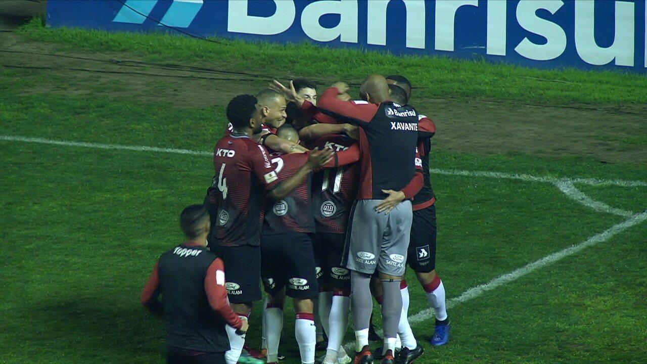 Os gols de Brasil de Pelotas 2 x 2 Figueirense pelo Campeonato Brasileiro Série B