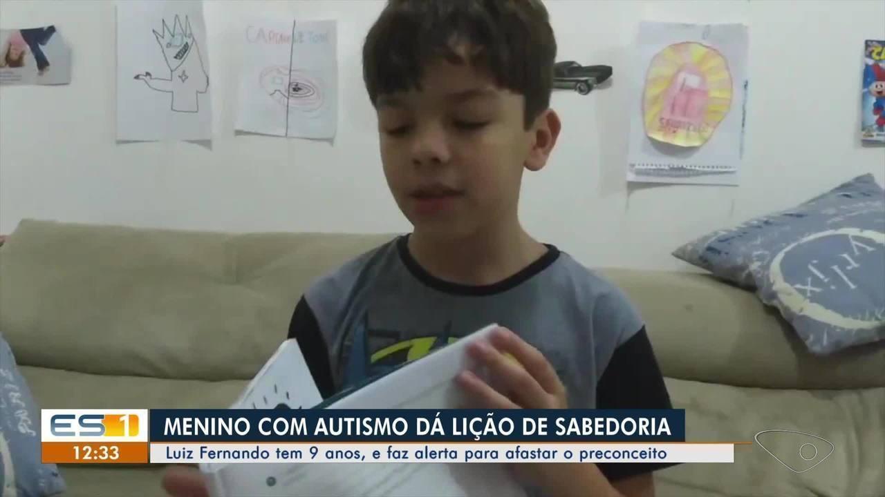 Resultado de imagem para Menino com autismo faz alerta para afastar o preconceito e vídeo viraliza no ES