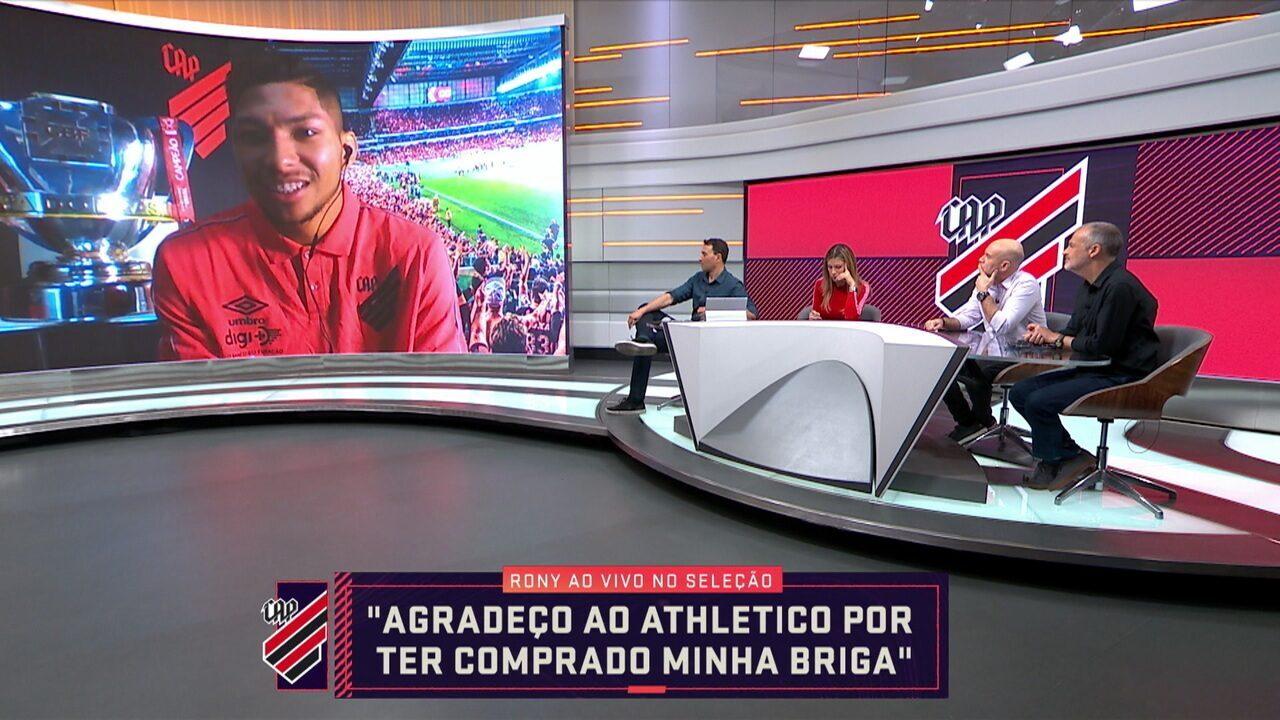 Responsável pelo gol do título do Athletico-PR, Rony participa do Seleção