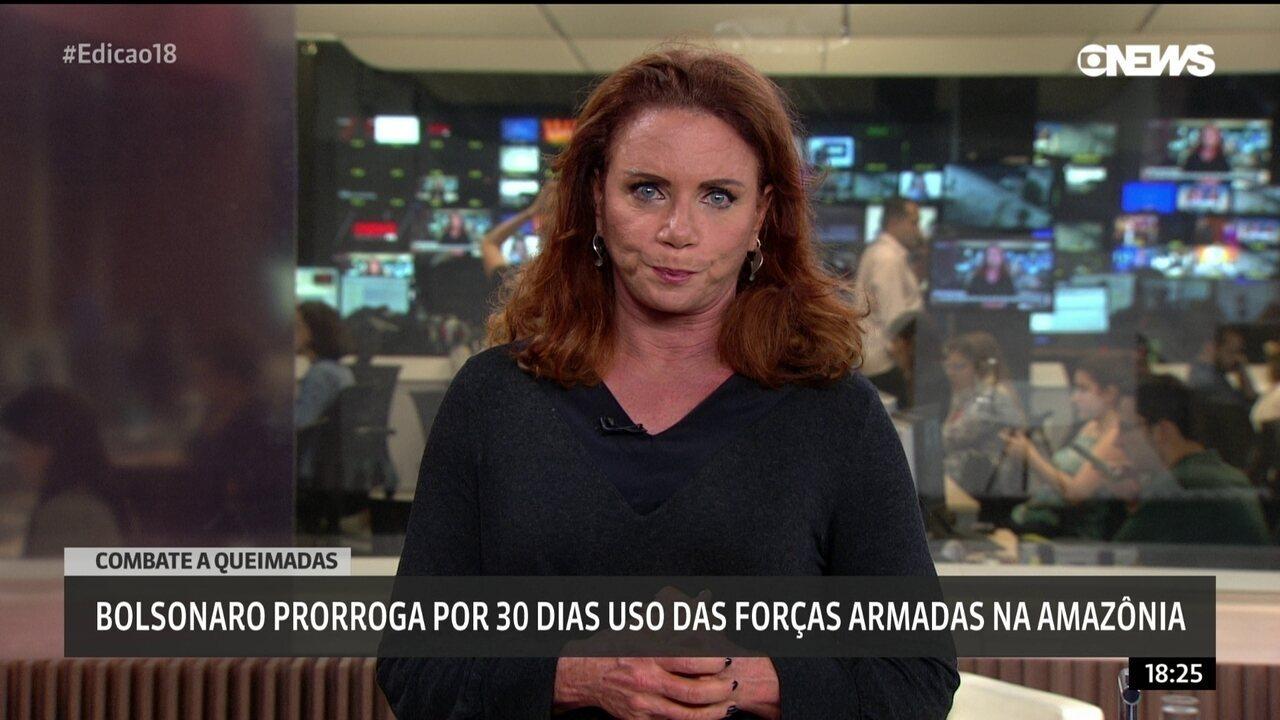 Bolsonaro prorroga por 30 dias uso das forças armadas na Amazônia