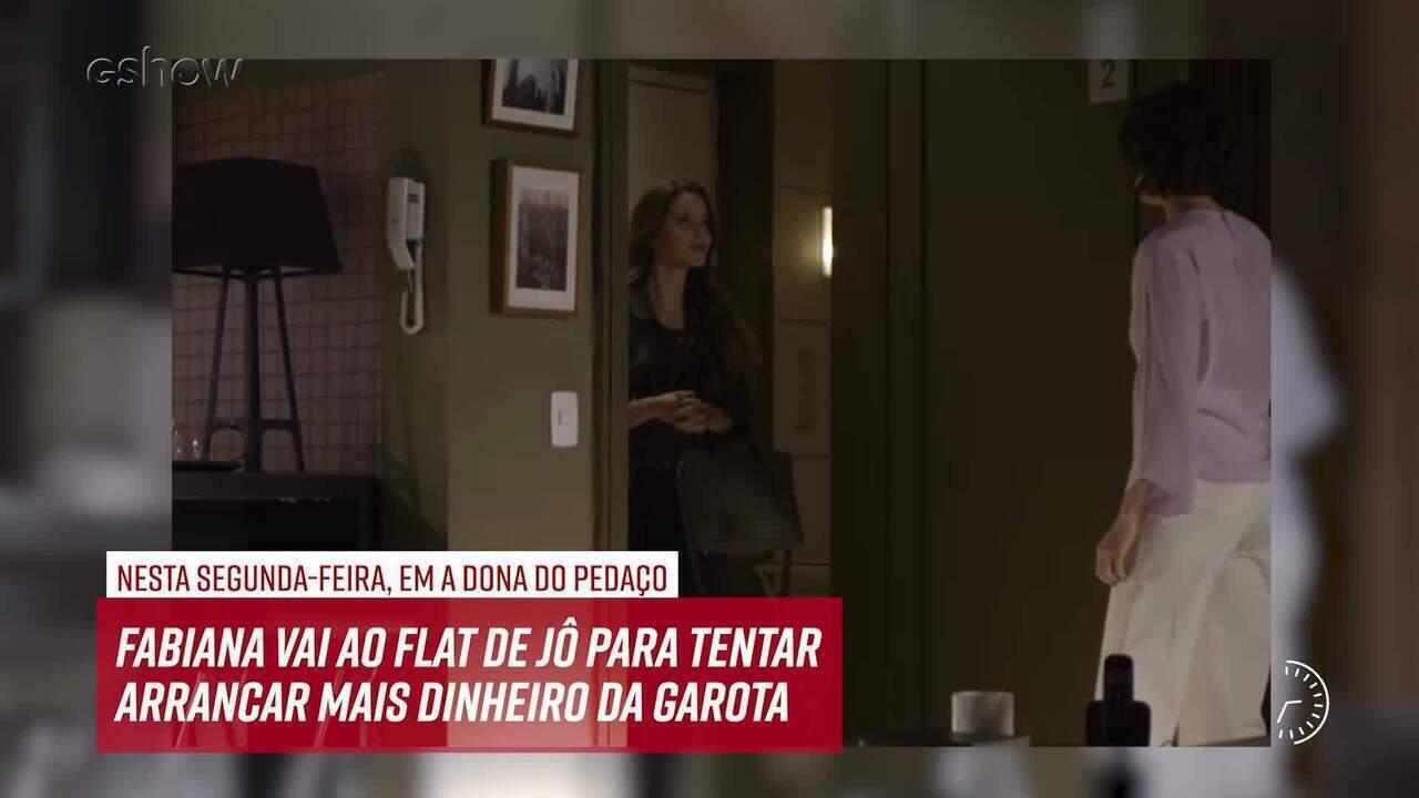 Resumo do dia - 23/09 – Fabiana vai ao flat de Jô para tentar arrancar mais dinheiro dela