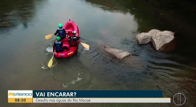 'Vai Encarar?': Gustavo Garcia em desafio nas águas do Rio Macaé