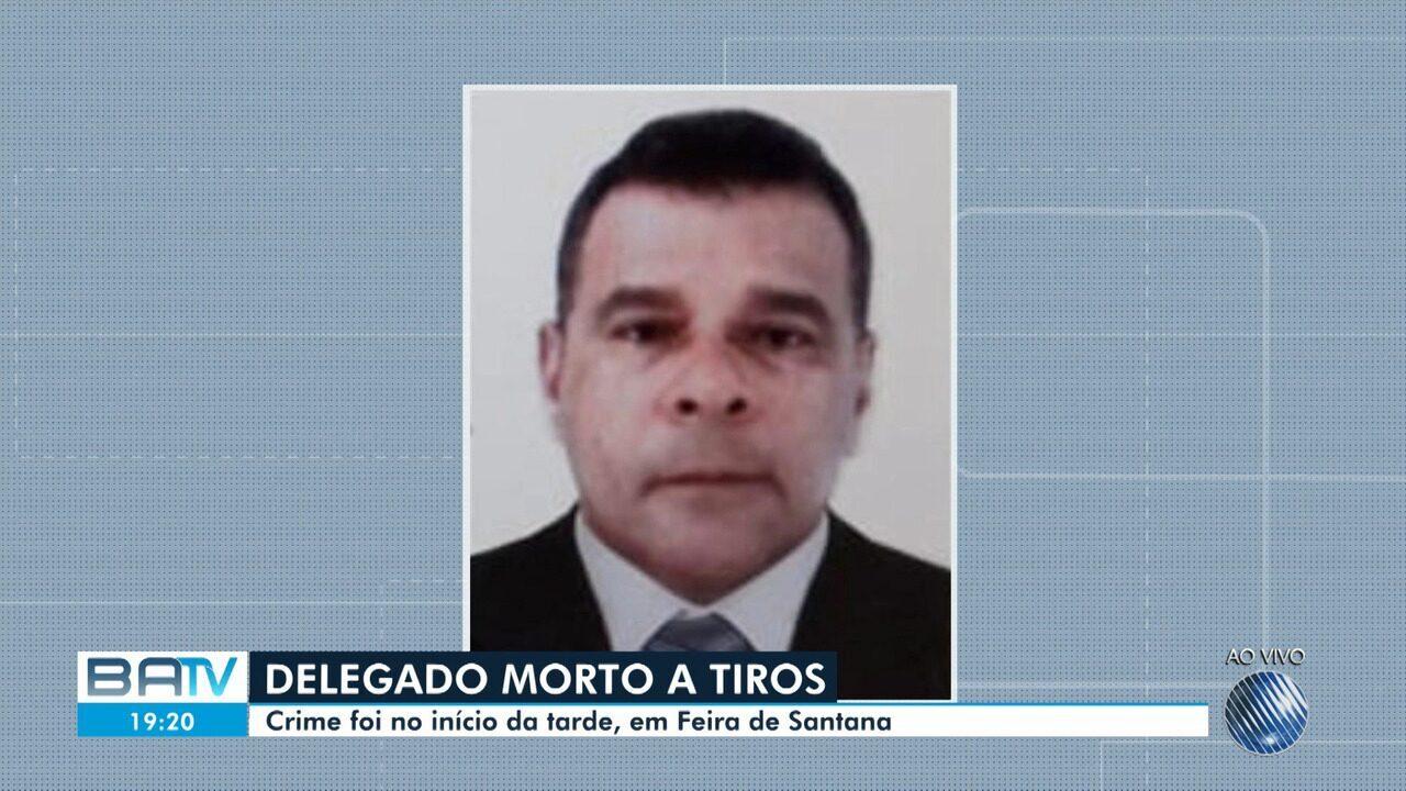 Resultado de imagem para Delegado é morto a tiros durante assalto em Feira de Santana
