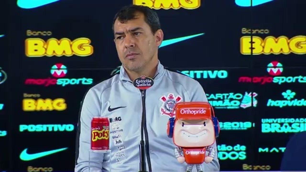 A entrevista coletiva de Fábio Carille, técnico do Corinthians, após a vitória sobre o Bahia