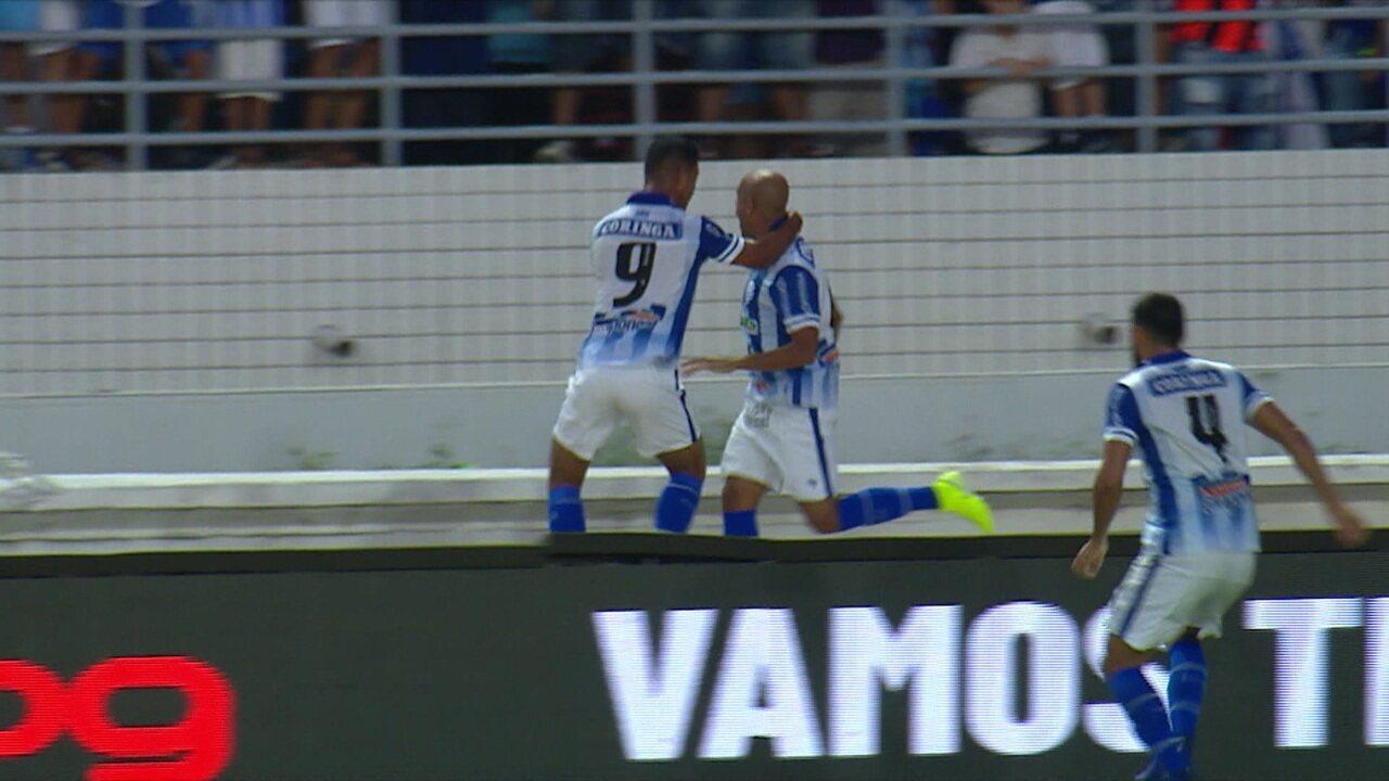 O gol de CSA 1 x 0 Ceará, pela 20ª rodada do Campeonato Brasileiro