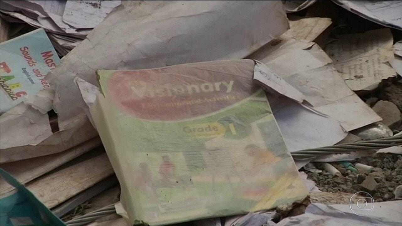 Sete crianças morrem em desabamento dentro de escola no Quênia