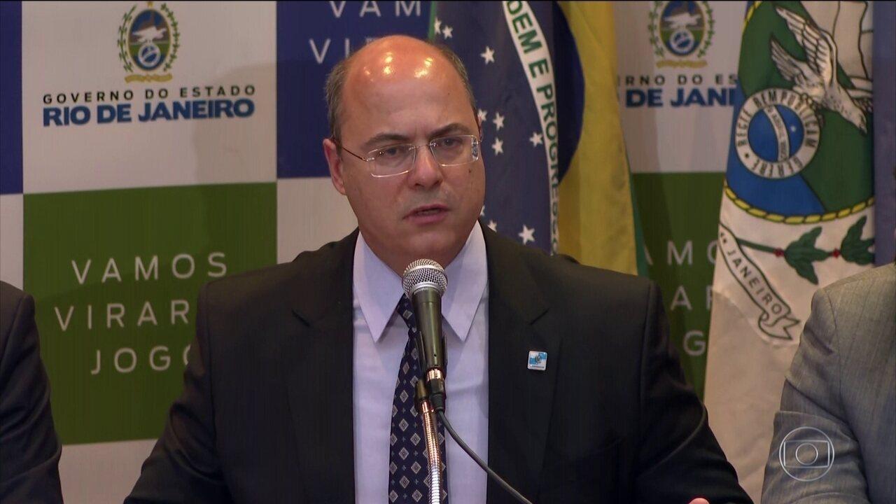 Wilson Witzel lamenta morte de Ágatha e insiste na política de segurança do estado do Rio