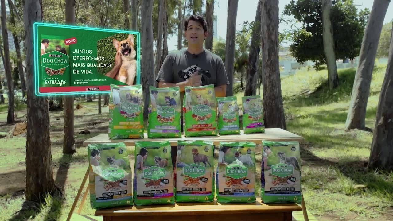 Alessandro Timbó apresenta alimento especial da Dog Chow para cães com sobrepeso
