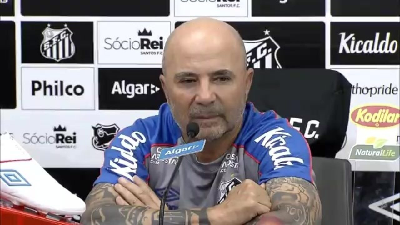 Veja a entrevista coletiva de Jorge Sampaoli no Santos
