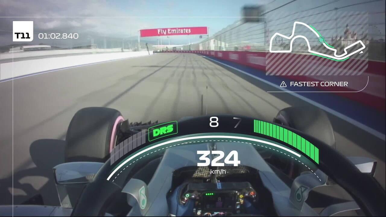 Dê uma volta pelo Autódromo de Sochi com Valtteri Bottas, pole de 2018