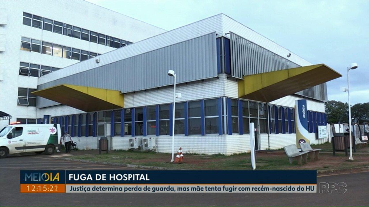Mãe tenta fugir do hospital com recém-nascido em Ponta Grossa