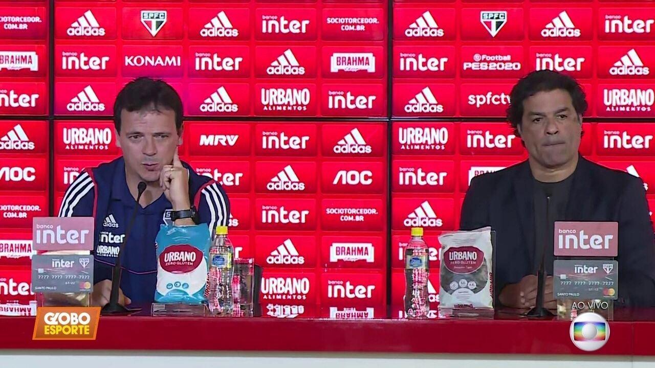 Veja como foi a apresentação de Fernando Diniz, o novo técnico do São Paulo