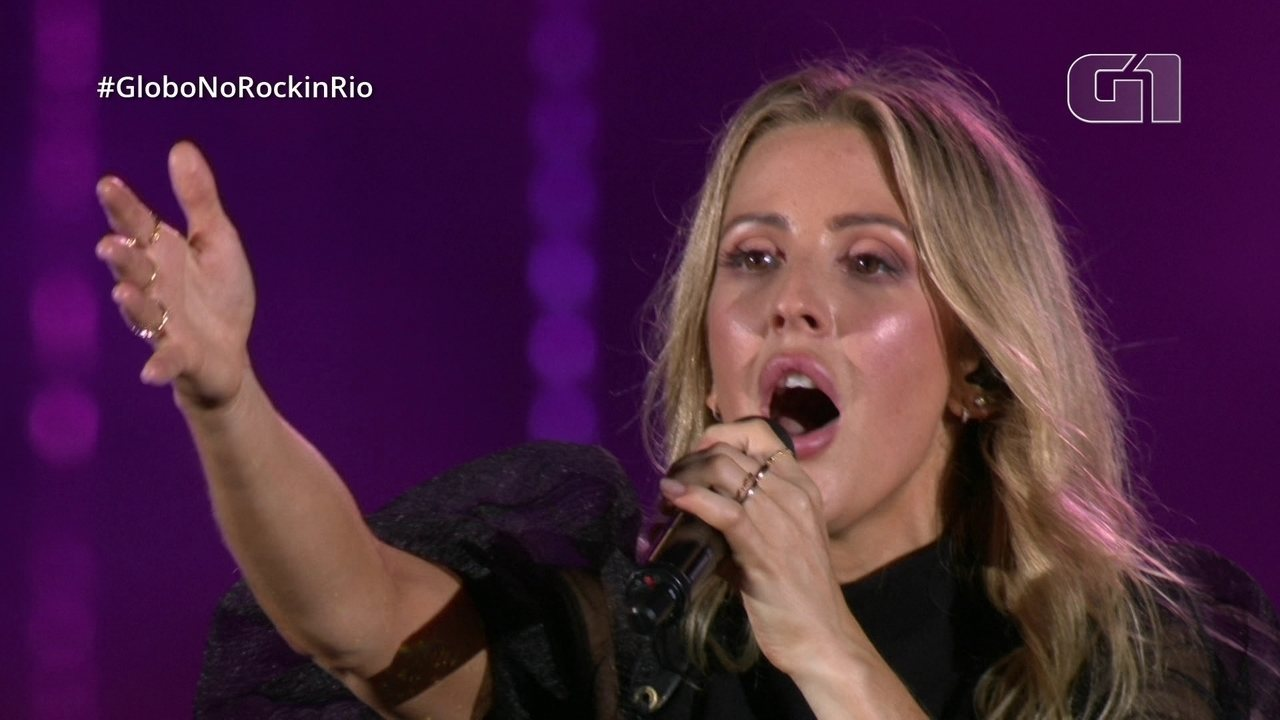 "Ellie Goulding canta seu sucesso ""Love me like you do"" no Rock in Rio"