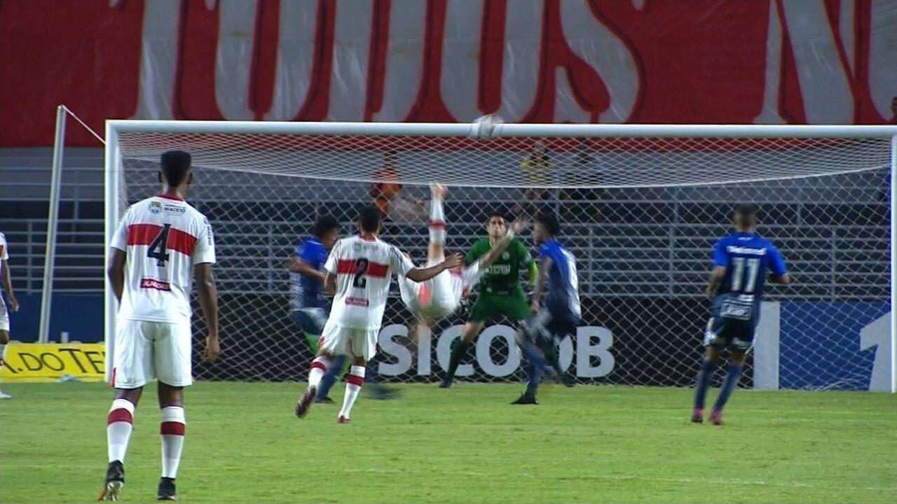 Veja os melhores momentos de CRB 1 x 1 São Bento pela 25ª rodada da Série B do Brasileiro