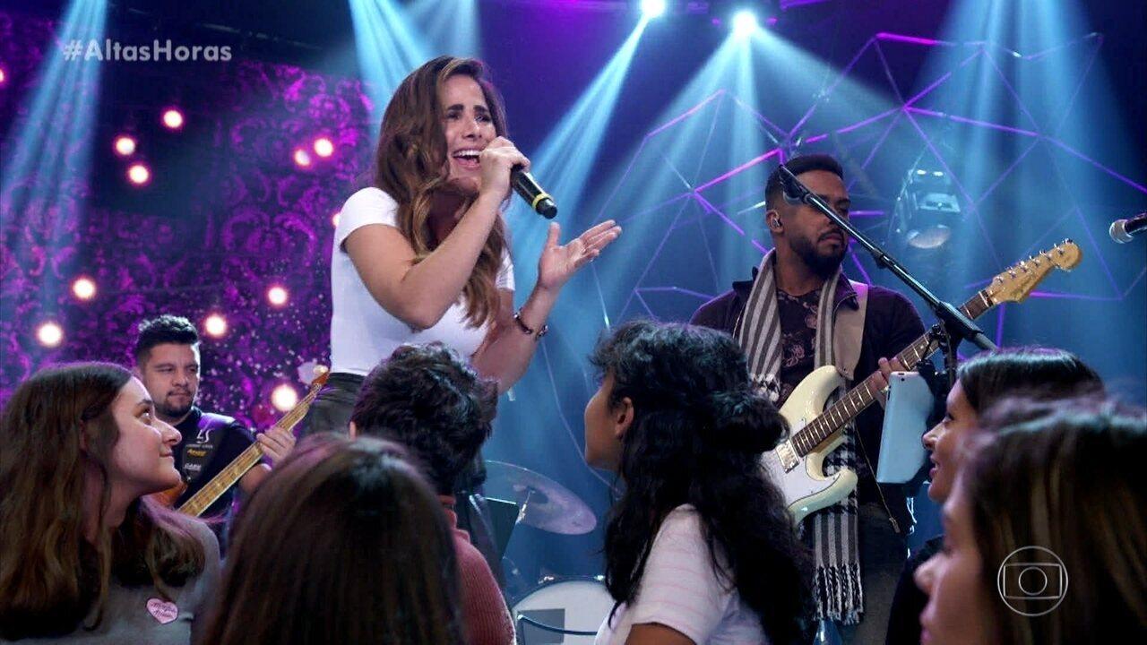Wanessa Camargo cantou 'Vou Lembrar'