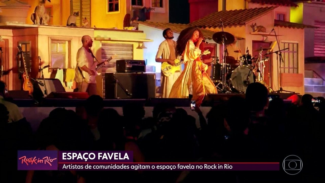 Artistas da comunidade agitam o espaço Favela no Rock in Rio