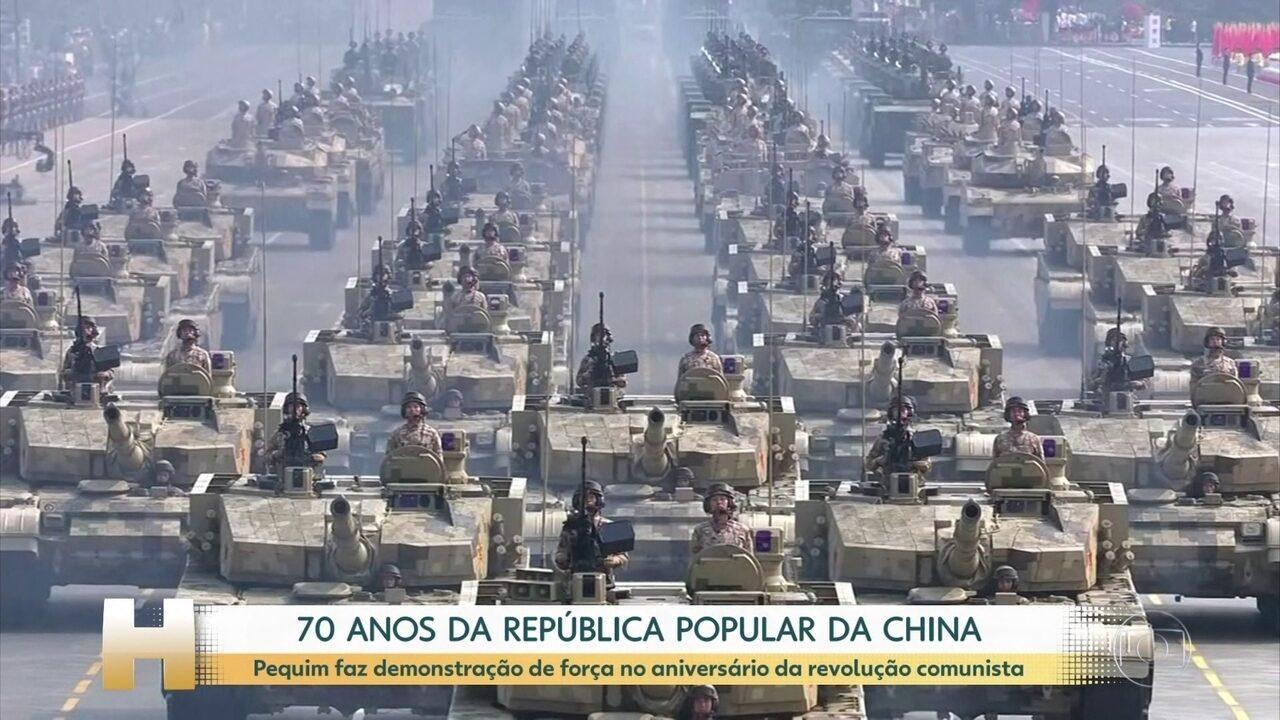 China exibe míssil capaz de atingir EUA na comemoração dos 70 anos da revolução comunista