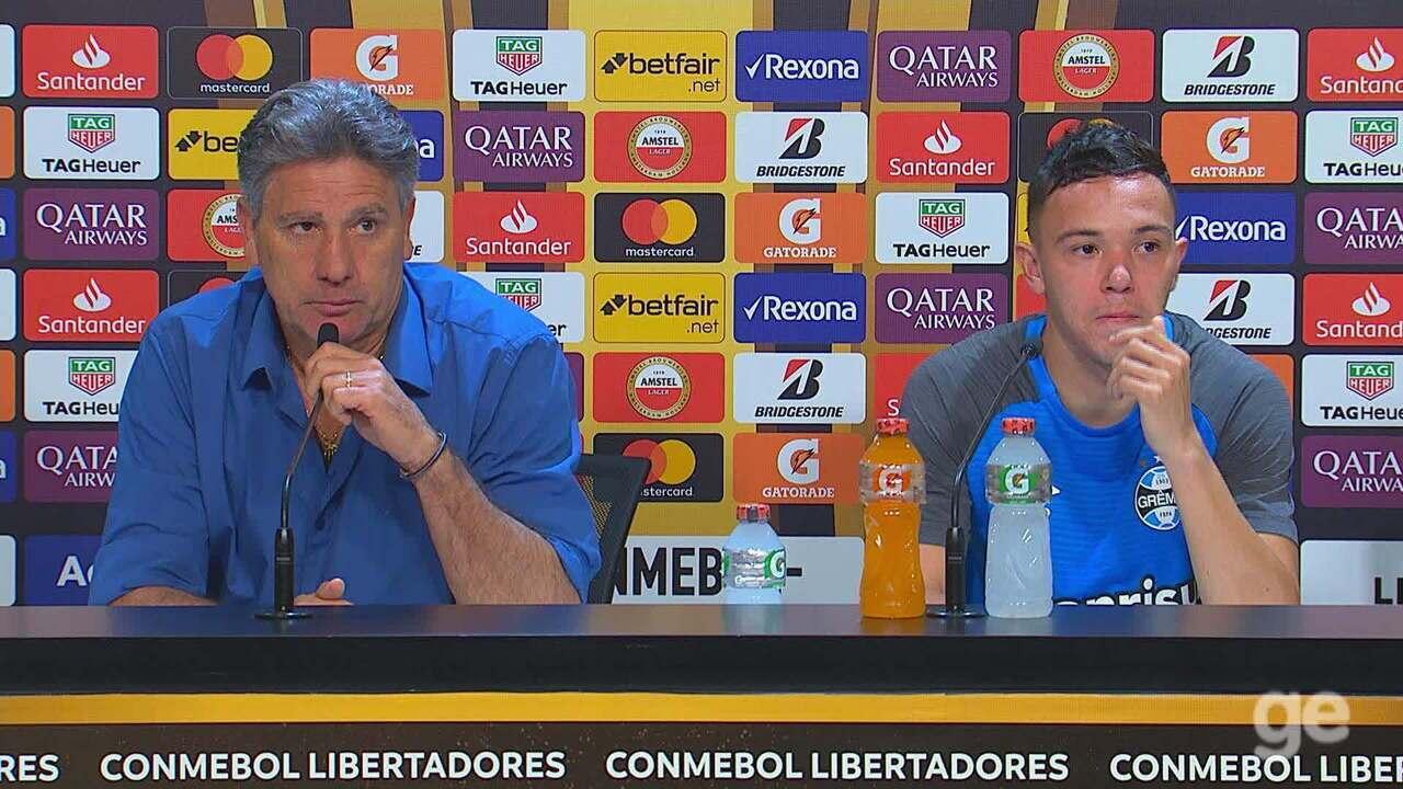 Confira a íntegra da coletiva de Renato Gaúcho e de Pepê, do Grêmio
