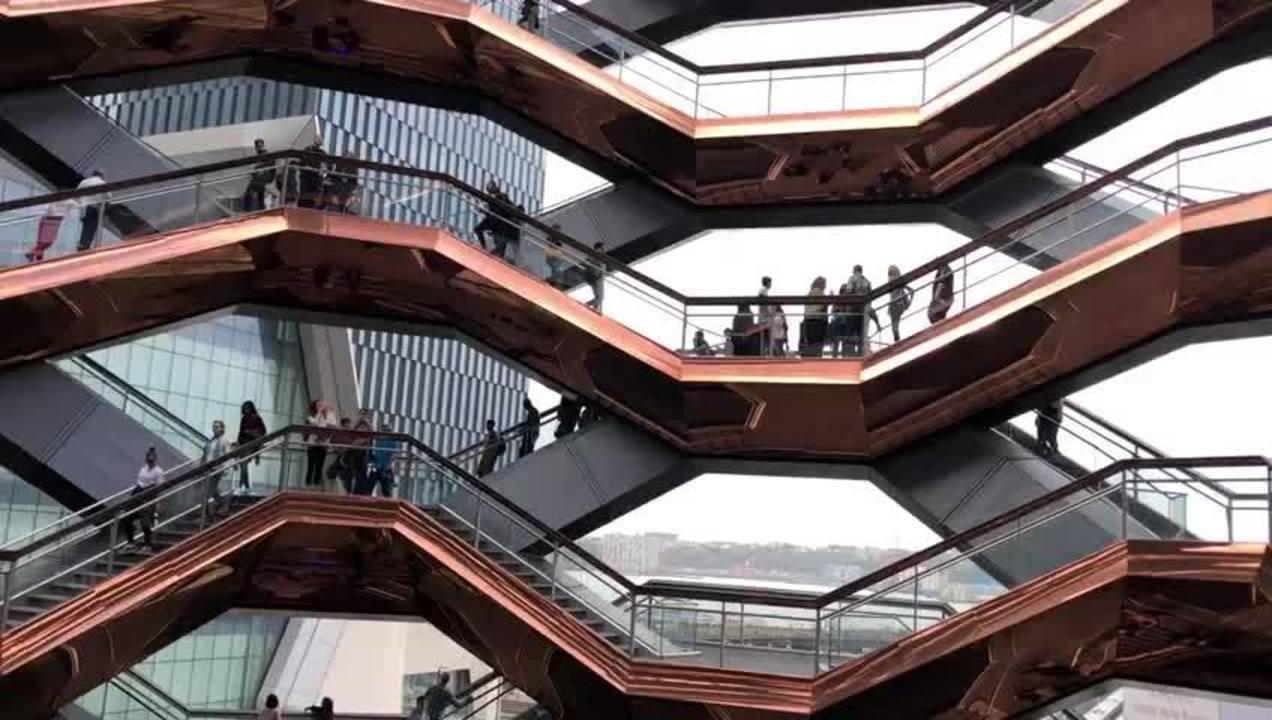 Localizado em NY, conheça o Vessel, enorme escultura feita de escadas