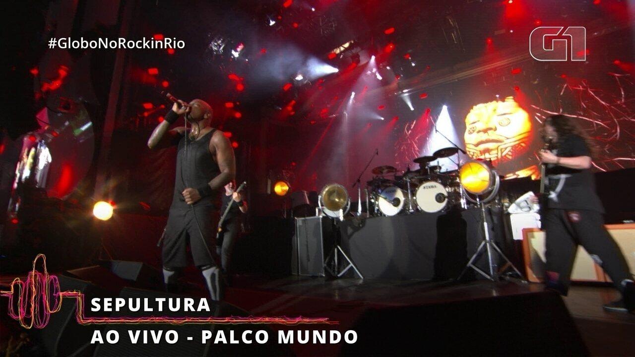 """Sepultura encerra seu show no Rock in Rio com """"Roots"""""""