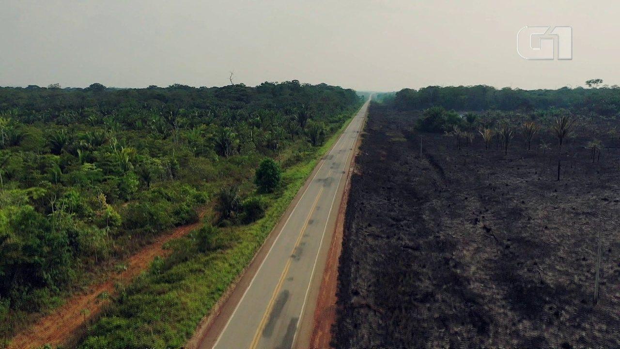 Queimadas avançam fora das áreas demarcadas em Rondônia